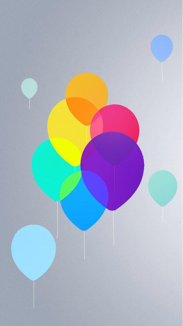 Balloons! The iPhone iOS7 Retina Wallpaper I like!