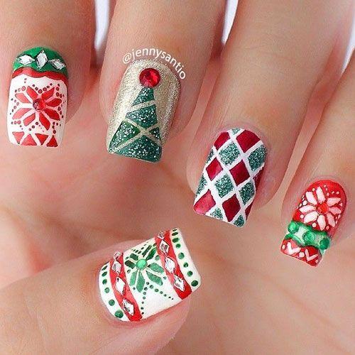 cool Christmas Nail Art – 31 Christmas Nail Art Designs - Nail My Polish
