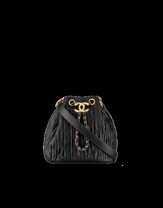 Chanel Black Coco Pleats Mini Drawstring Bag  2d475f8254f88