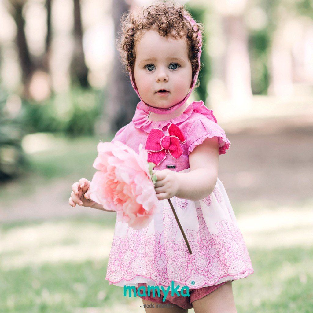 vestido jesusito bebé niña color rosa | vestidos de niña Dolce petit ...