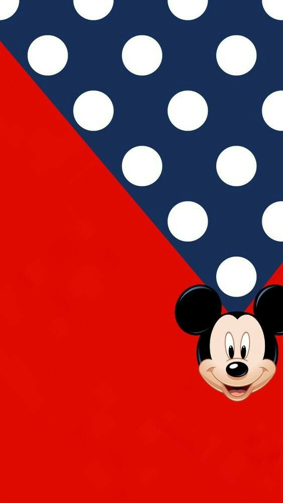 Mickey Mouse Red White and Blue Wallpaper