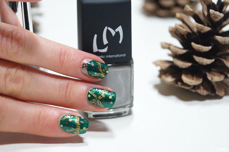 Nail art sapin de Noël --- Christmas tree nails