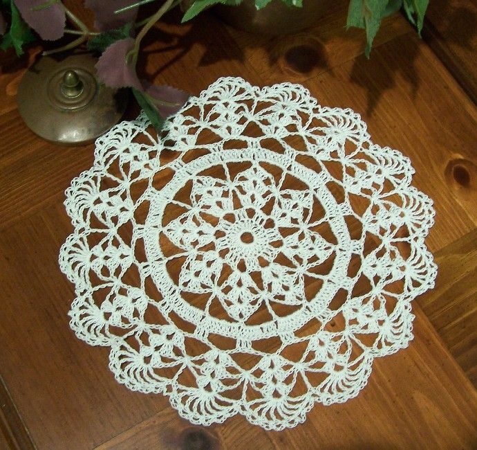 Large Table Doily Free Crochet Pattern - KarensVariety.com | doily ...