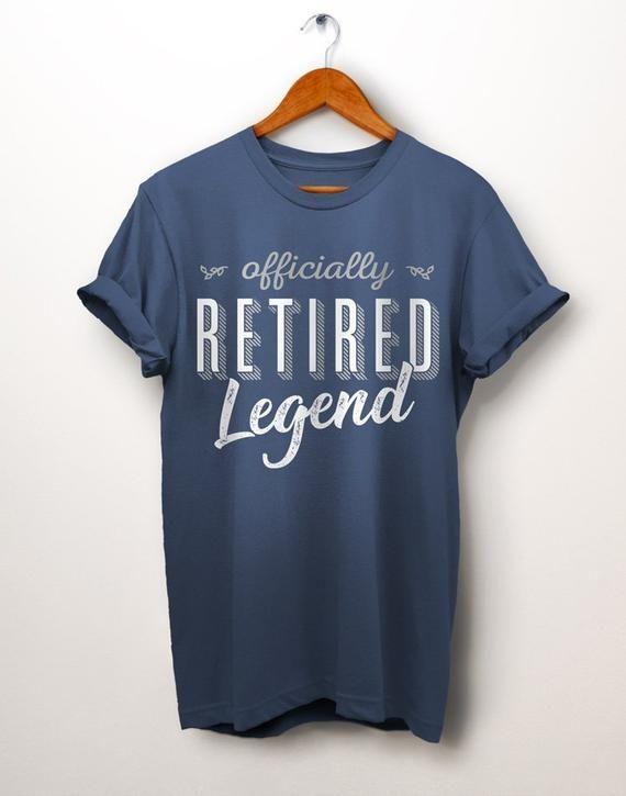 26d34730 Retirement Gifts. Legend Retired T Shirt. Husband Retirement. Office  Retirement. Military Retirement