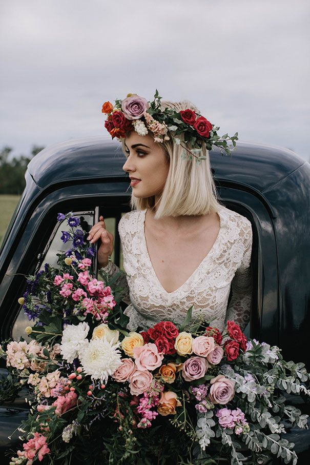 A Car Full Of Flowers Photography White Ash Photography