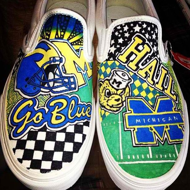 Check Out These Custom Made Michigan Shoes From Sneakersbyjordana