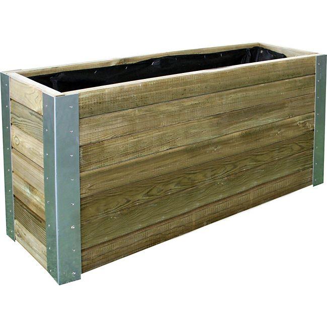 Forest Style Holz Pflanzkasten Hochbeet Bambou Online Kaufen Gartenxxl De Pflanzkasten Pflanzkubel Holz Impragnieren