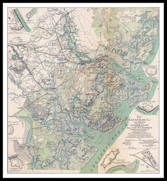 Map of Savannah, GA showing Civil War operations - 1864. NOT ... Savannah Ga On Us Map on las vegas nv on us map, laredo tx on us map, victoria tx on us map, savannah georgia, cincinnati oh on us map, greenville sc on us map, washington dc on us map, springfield il on us map, tuscaloosa al on us map, scottsdale az on us map, san antonio tx on us map, oklahoma city ok on us map, lexington ky on us map, greensboro nc on us map, tucson az on us map, san francisco ca on us map, hudson river on us map, bridgeport ct on us map, tulsa ok on us map, georgia beaches on us map,