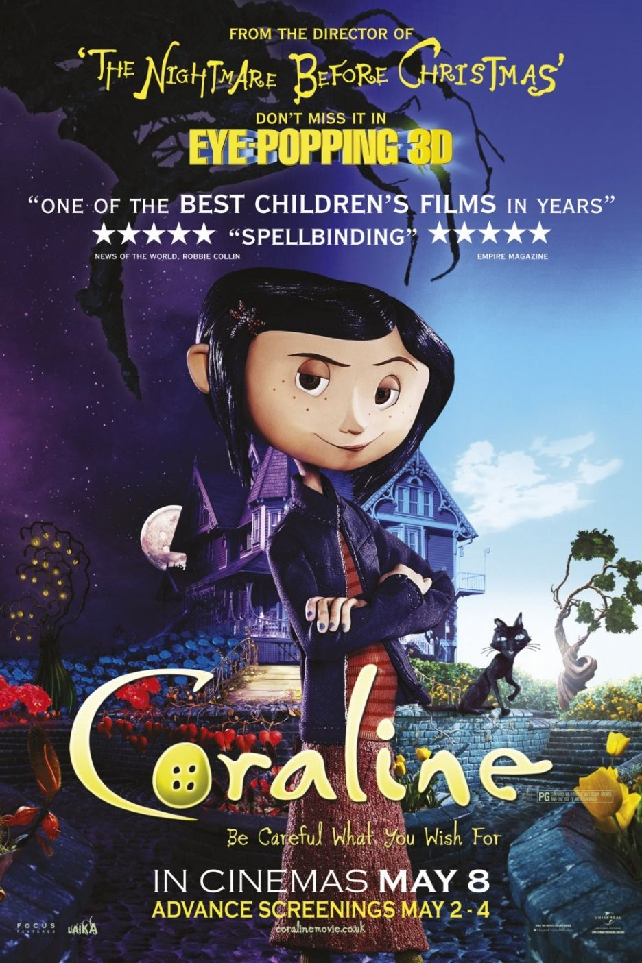 Coraline Animated movie posters, Halloween movies