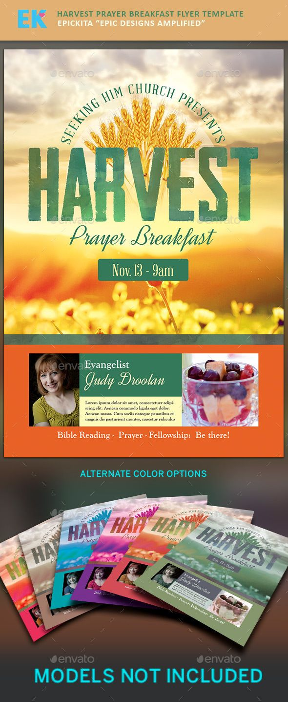 harvest prayer breakfast flyer template other colors and harvest prayer breakfast flyer template photoshop psd flyer template template available here