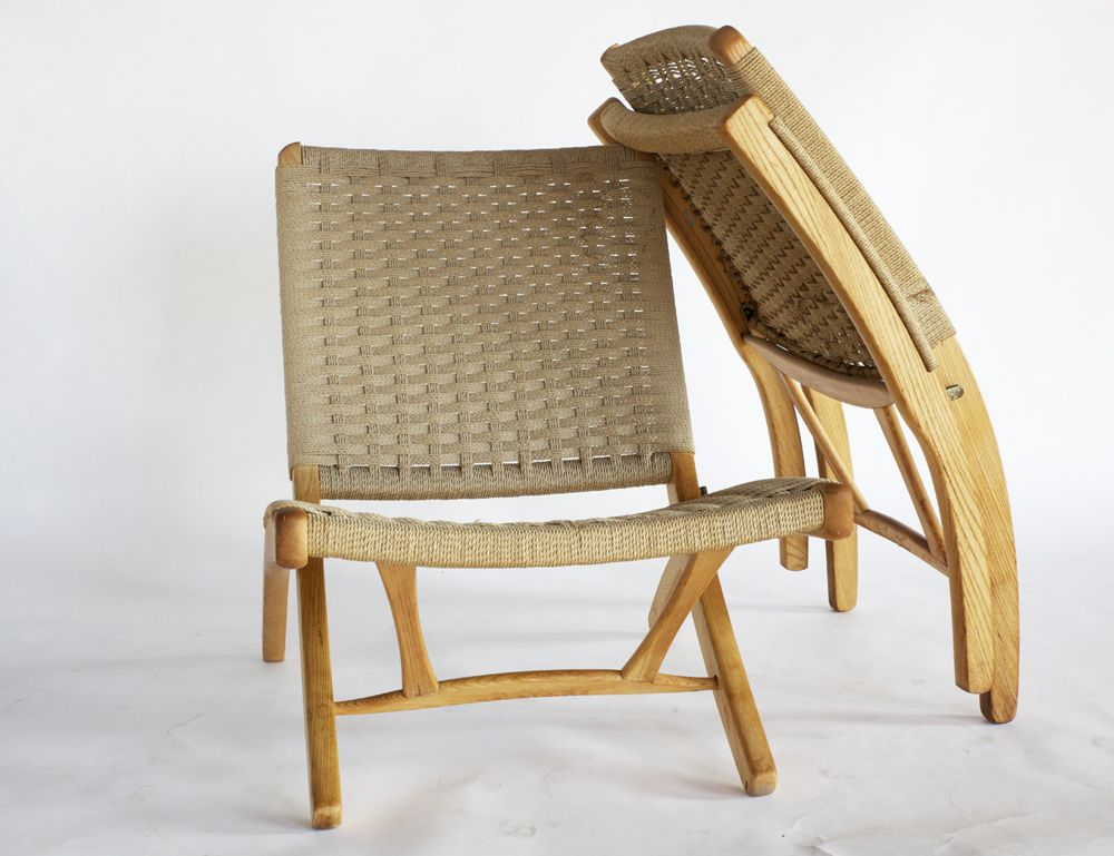 1 Handsome Japanese Mid Century Modern Iconic Rope Chair In The Style Made Famous By Danish Modern Design Gi Furniture Danish Furniture Design Furniture Design