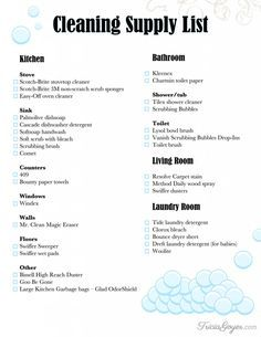 graphic about Cleaning Supplies List Printable known as Cleansing Shipping and delivery Record + Printable cleansing home Fresh