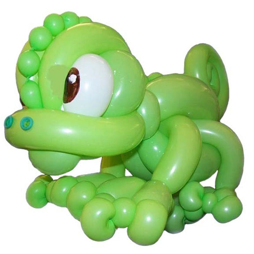 Lime Green Entries Balloon Chameleon  Jeff Hayes  Tasmania, Australia