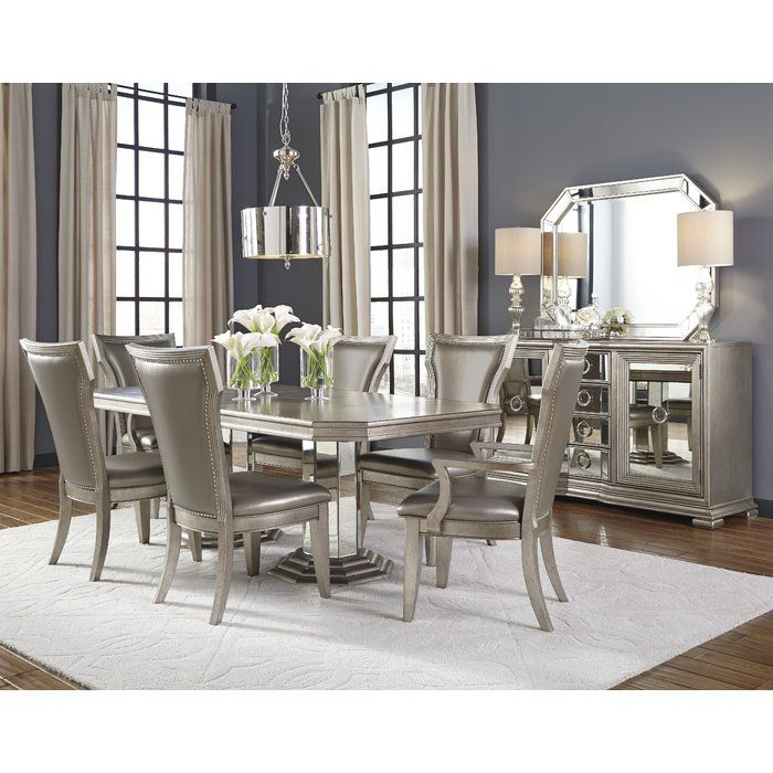 Sorrel Brushed Platinum Upholstered Dining Chair  Diningoom Awesome Cushioned Dining Room Chairs Decorating Inspiration