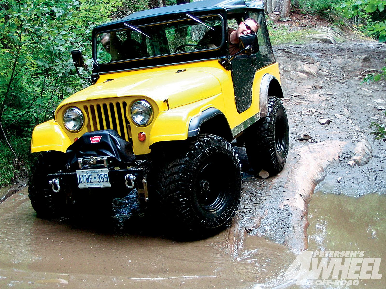 A 1967 jeep looking good in yellow