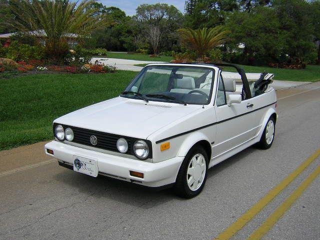 1991 Volkswagen Cabriolet 2 Dr Std Convertible Vw