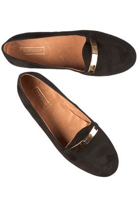 KLOVER Gold Trim Suede Slippers