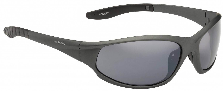 Alpina Wylder Sportbrille (Rahmenfarbe: 327 tin matt, Scheibe: black mirror)