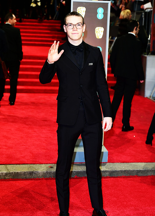 5fe8cf1e5dc6 Will Poulter at the 2018 EE British Academy Film Awards held at Royal  Albert Hall on Sunday (February 18) in London