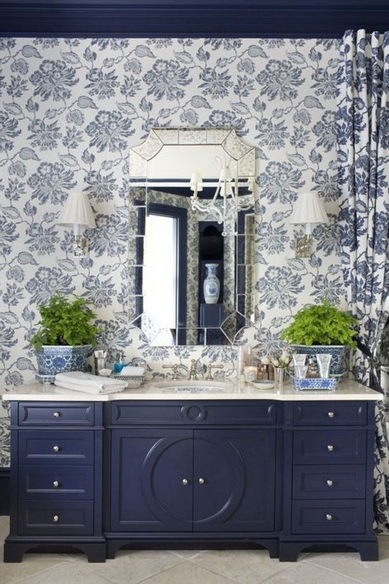30 Extraordinary Luxury Blue Bathroom Design Ideas Navy Bathroom Decor Blue Bathrooms