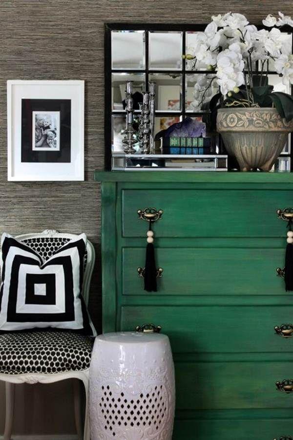 Decoracion De Muebles Pintados.Colores De Temporada Mostaza Y Verde Decoracion Casa Green