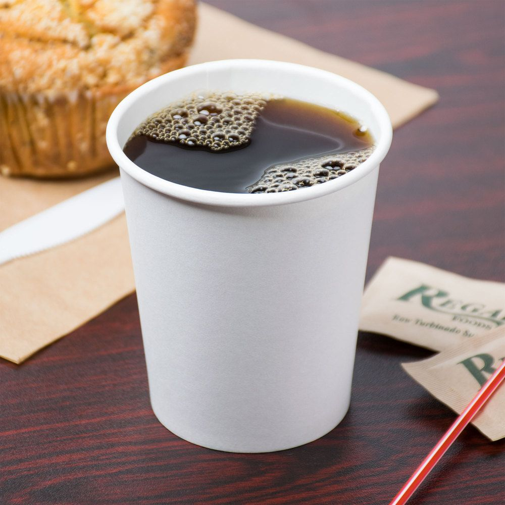 Choice 8 Oz White Poly Paper Hot Cup 1000 Case With Images