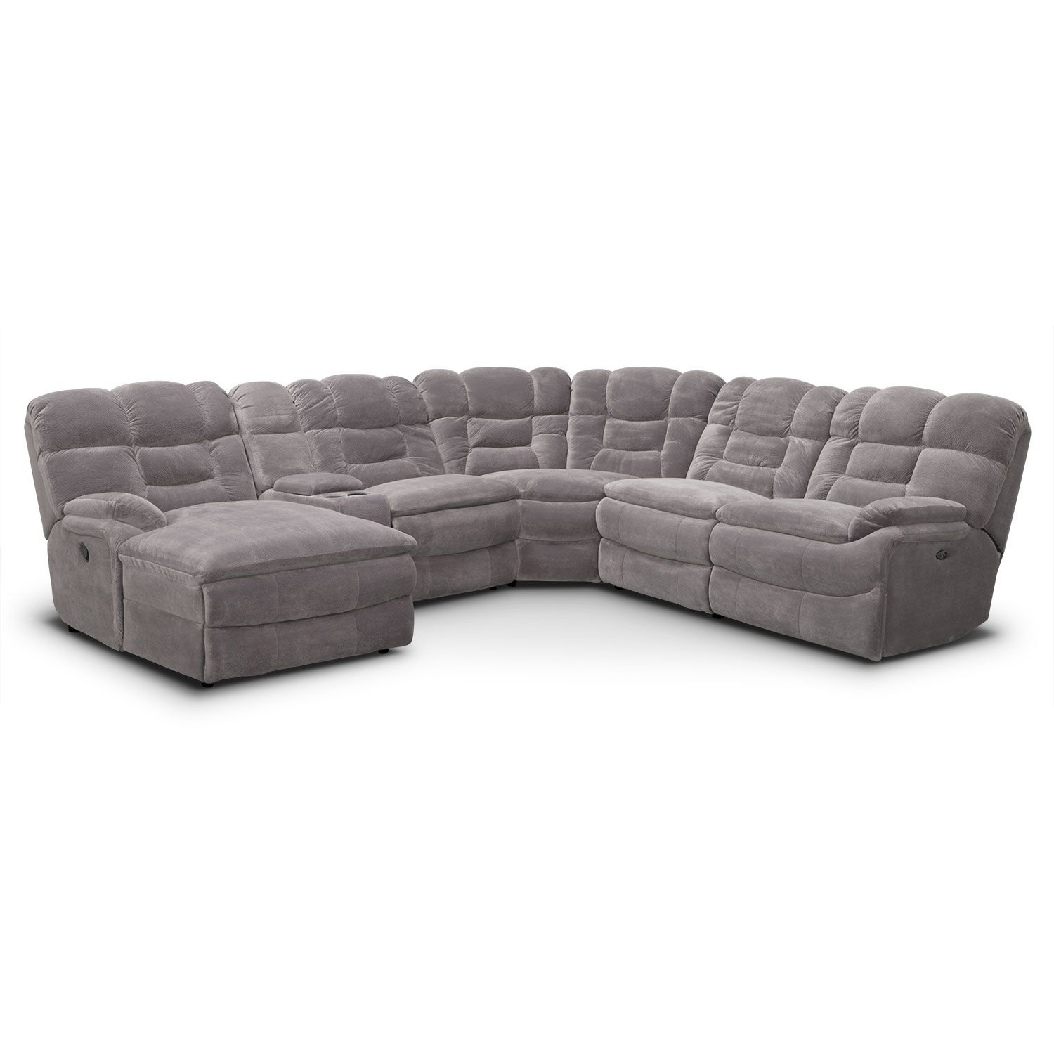 Living Room Furniture Big Softie 6 Piece Power Reclining  ~ Sectional Sofa Indianapolis