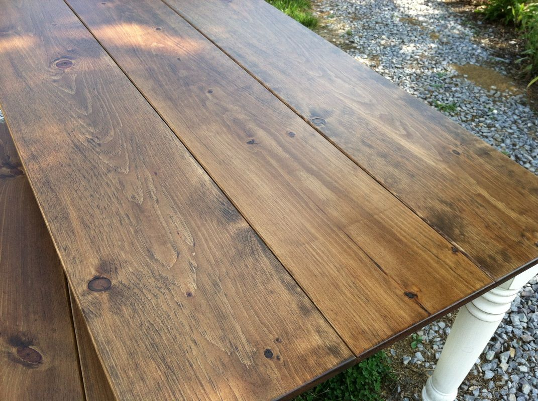 Provincial Stain Color Rustic Dining Stained Table Dining Table
