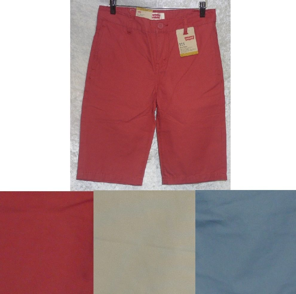 Levi's boys shorts slim fit denim solid colored youth size 8, 14 ...