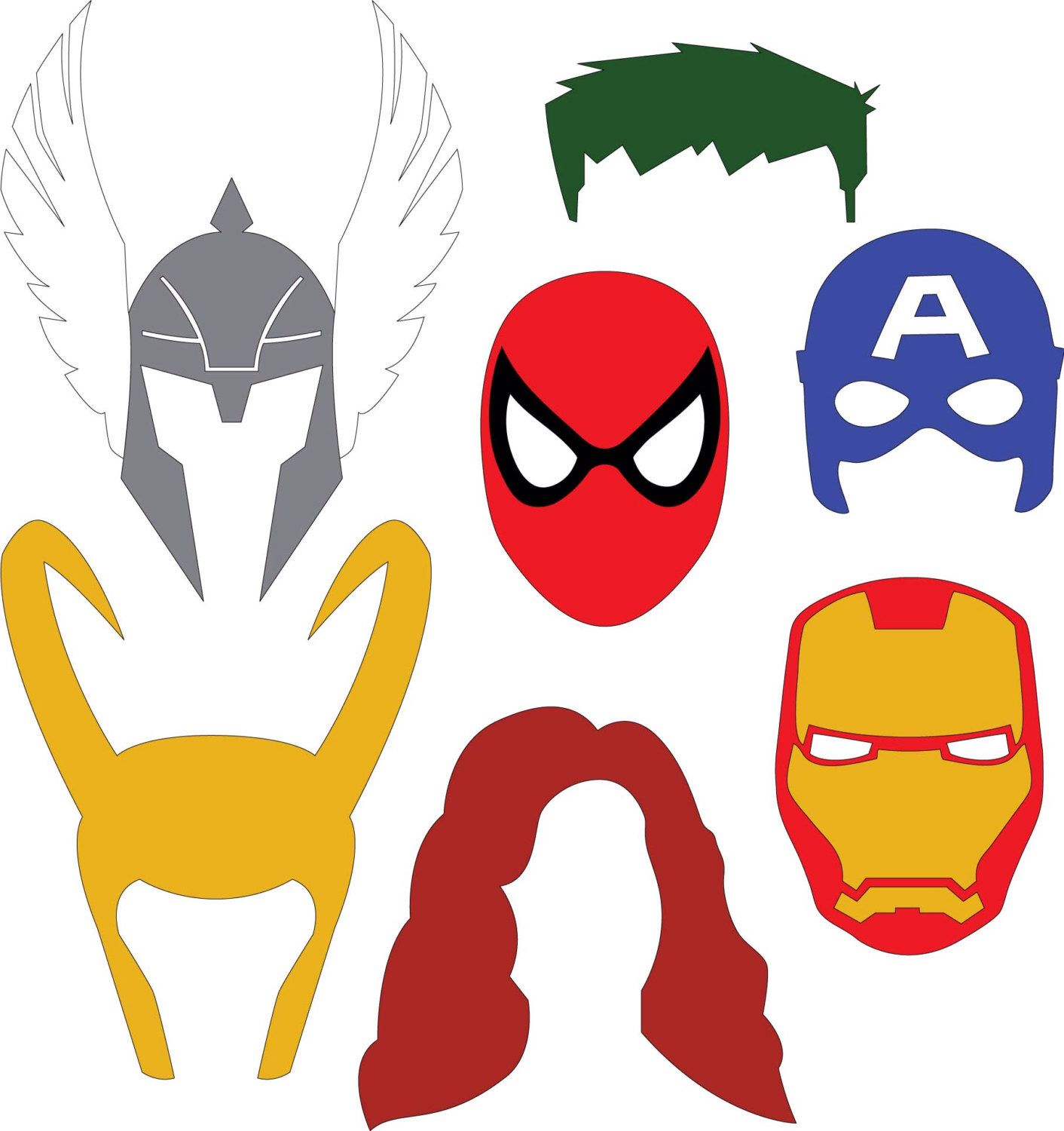 Avengers Clipart Set Marvel Svg File Iron Man