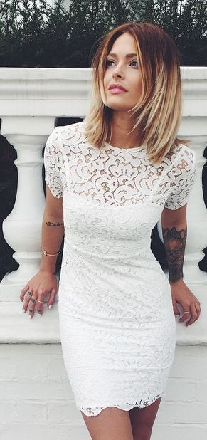 White Lace Lwd Streetstyle by Caroline Receveur & Co women fashion clothing style apparel @RORESS closet ideas