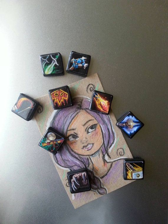 World of warcraft Magnets class icons- WOW magnets Demon