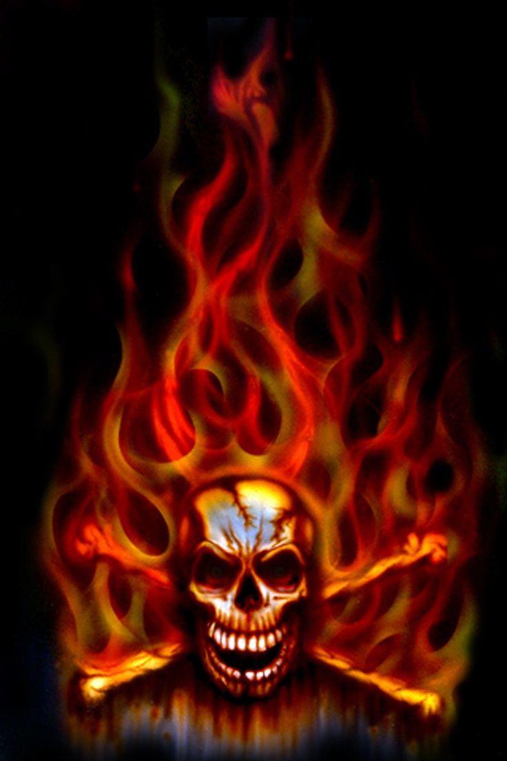 8589130475826 Cool Fire Skulls Wallpaper Hd 1024x