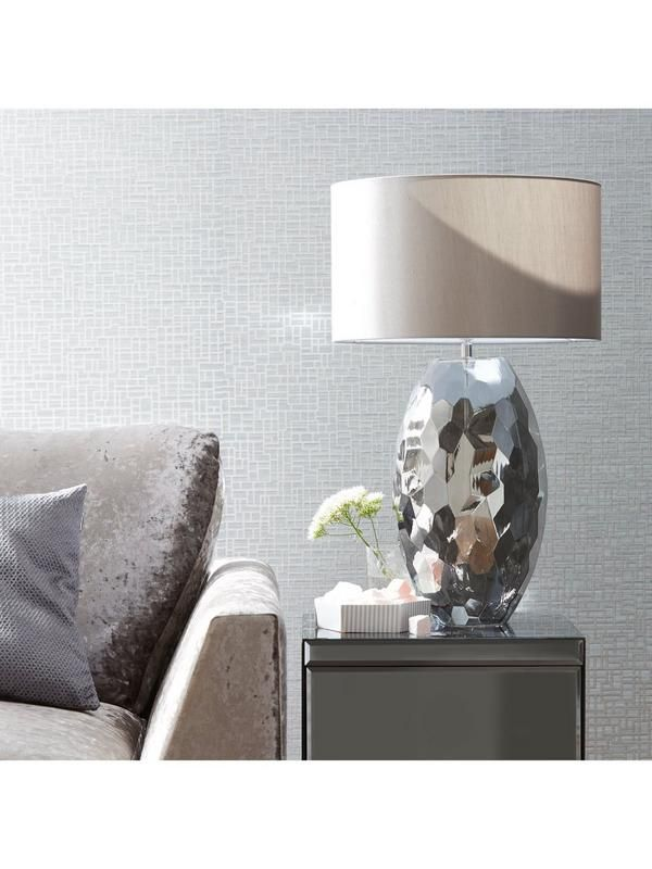 Frasco Smokey Glass Faceted Table Lamp