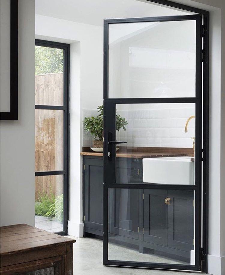 Devol Kitchens Black Framed Glass Doors Kitchens Pinterest
