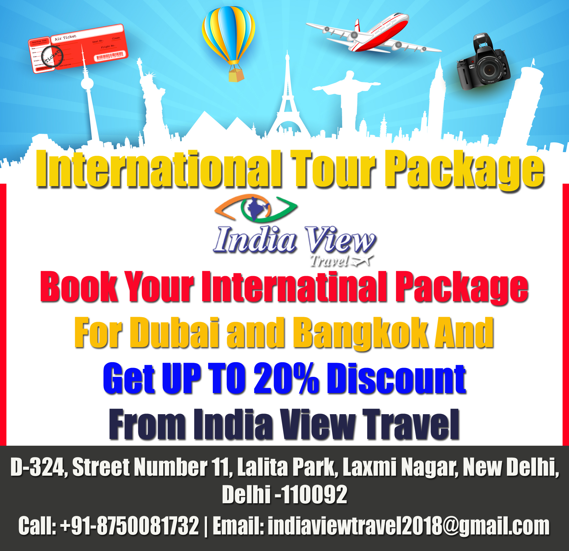 Book Your International Tour Packages For Dubai And Bangkok And Get Up To 20 Discount From India View Travel For Booking Call Tour Packages Dubai Bangkok