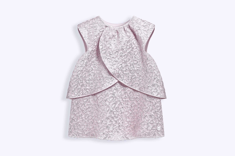 Silk jacquard dress with rose motifs baby dior pinterest