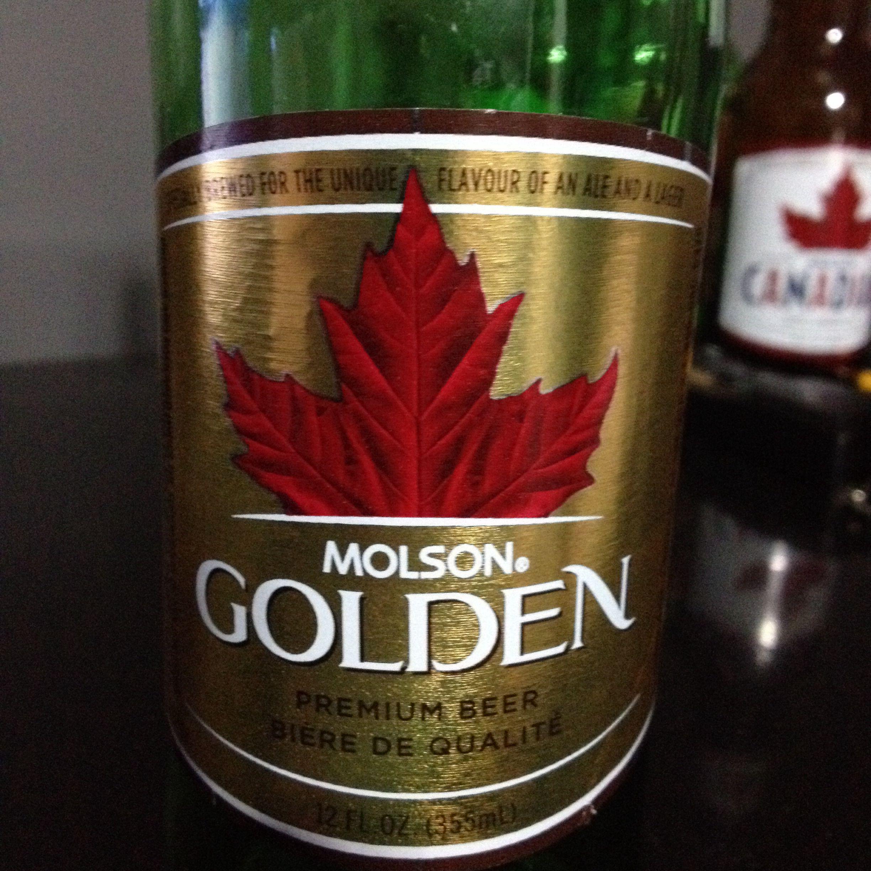 Molson Golden Beer And Molson Canadian Beer Wine Bottle Premium Beer