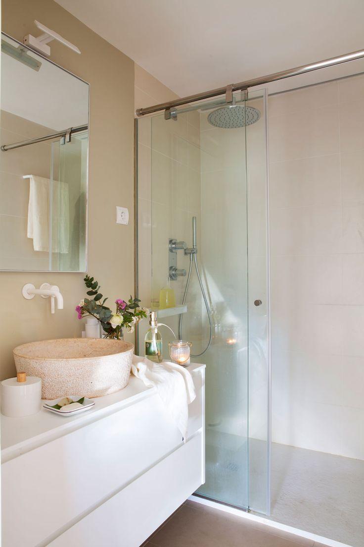 Resultado de imagen de baño azulejo blanco rustico | Baños ...