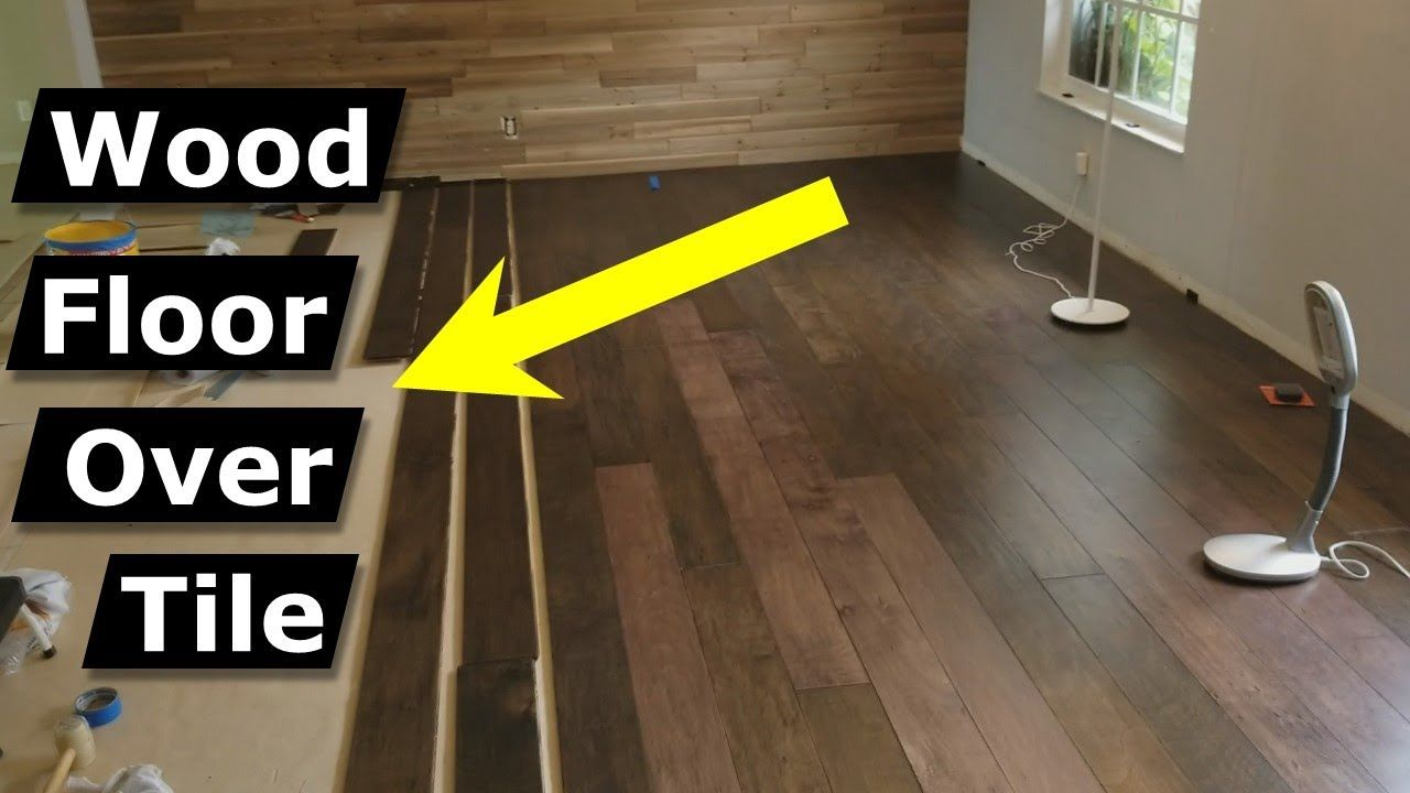 Install Hardwood Flooring Over Tile Floor Double Glue Down Method Youtube In 2020 Installing Laminate Wood Flooring Wood Laminate Flooring Laying Wood Floors