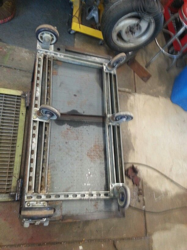 Welding Table Unistrut Super Frame For Casters This Is