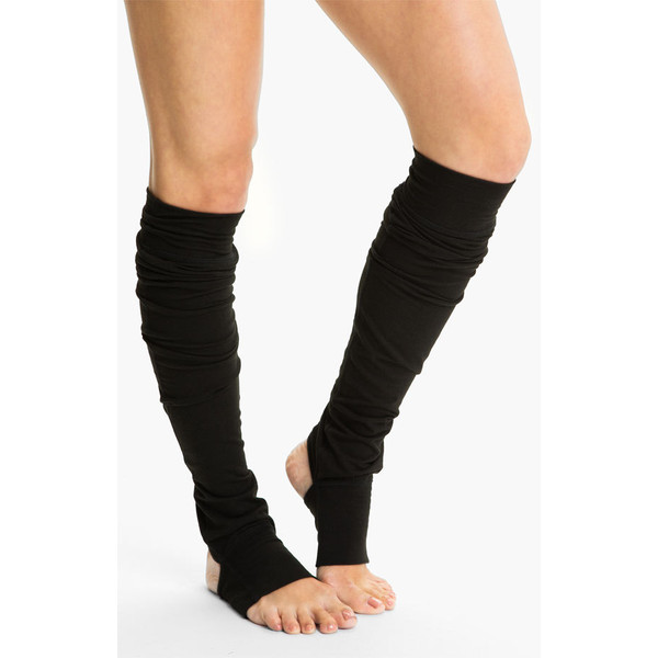 Karma 'Alex' Leg Warmers Heather Cement One Size ($28) ❤ liked on Polyvore