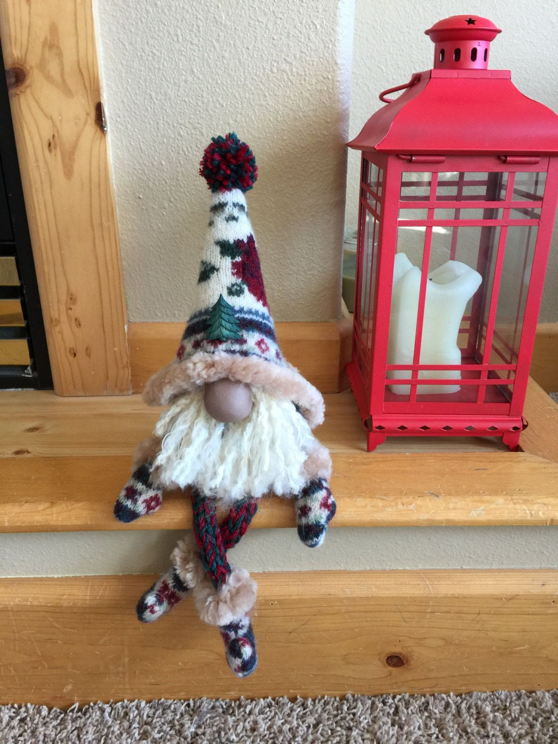 Repurposed felted christmas gnome by heidisgnomes on etsy for Gnomos navidenos