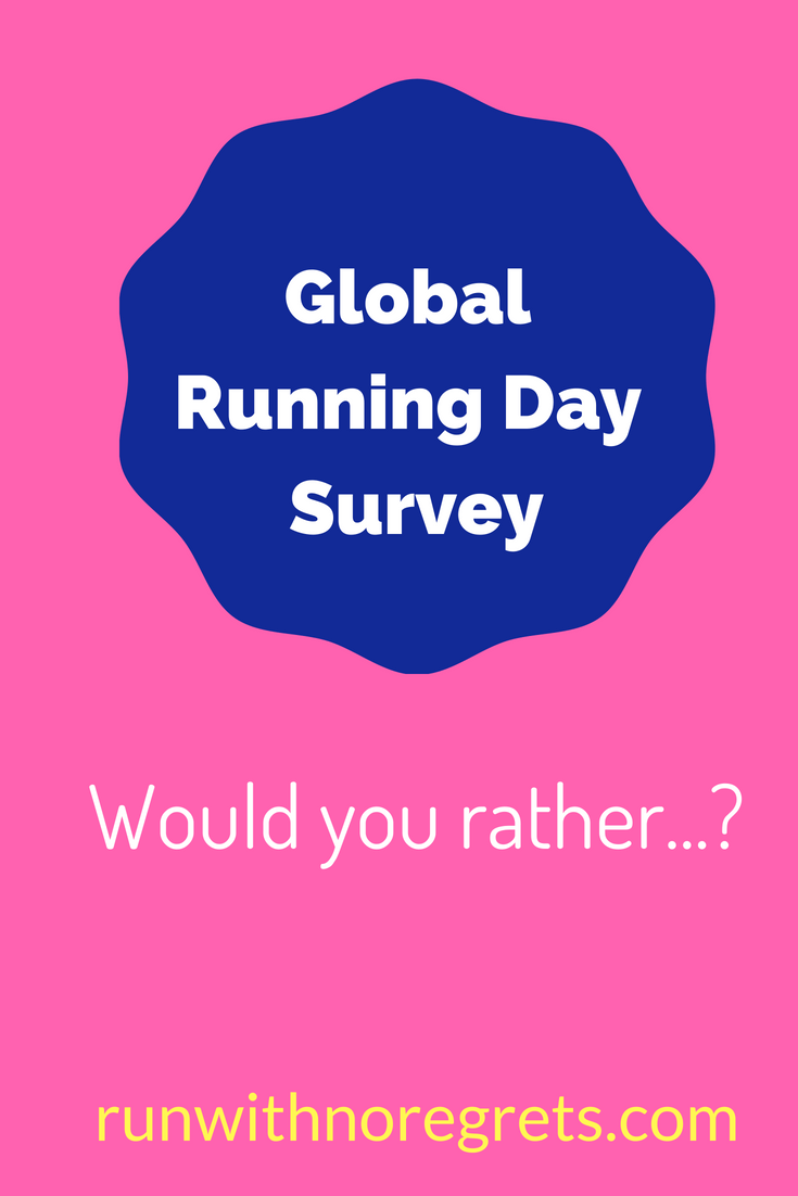 Who Would You Rather Have Running New >> Global Running Day Would You Rather All Things Running