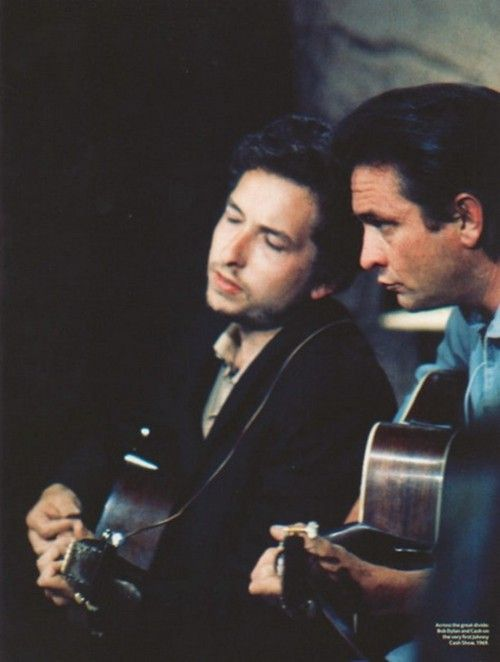 Bob Dylan & Johnny Cash. I bet they're singing Girl from the North Country