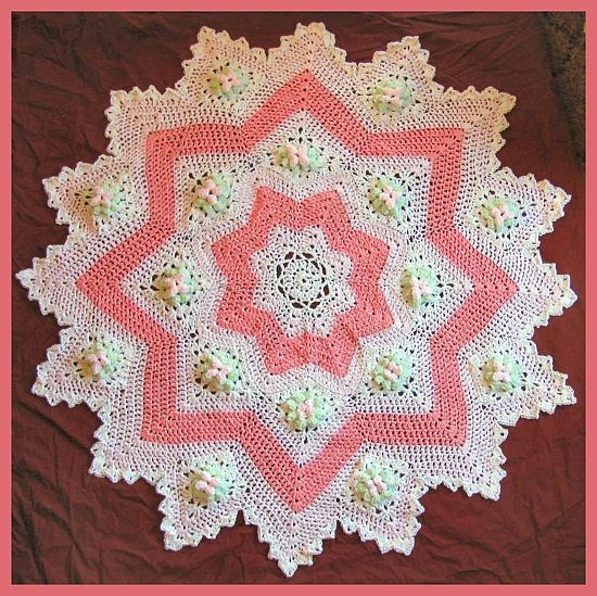 Dogwood Blossom 8 To 16 Point Round Ripple Heirloom Baby