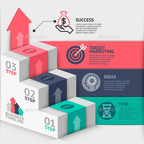 Business Staircase Diagram Template #web u2022 Available here →   - business timeline template