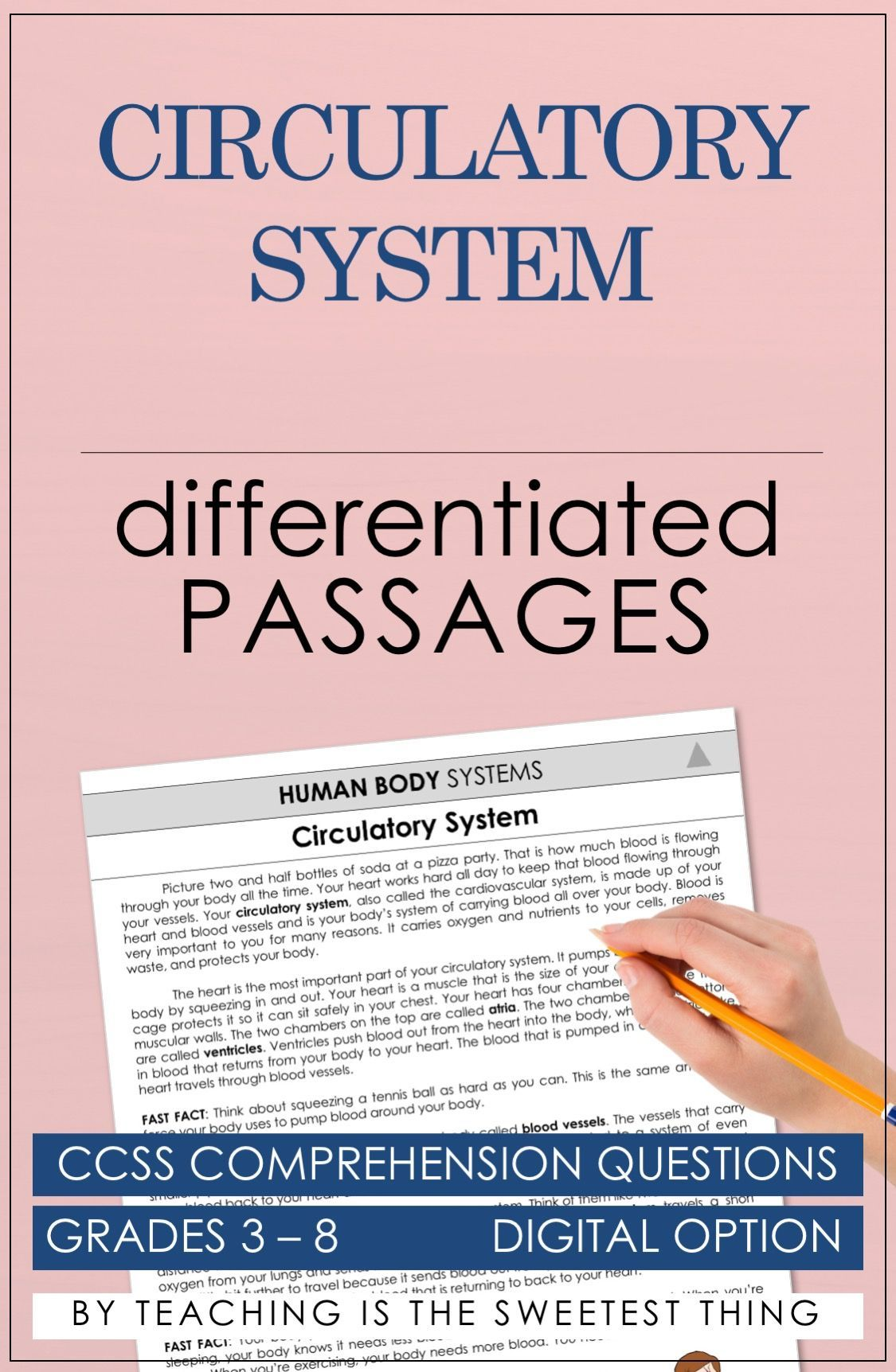 Human Body Systems Passages