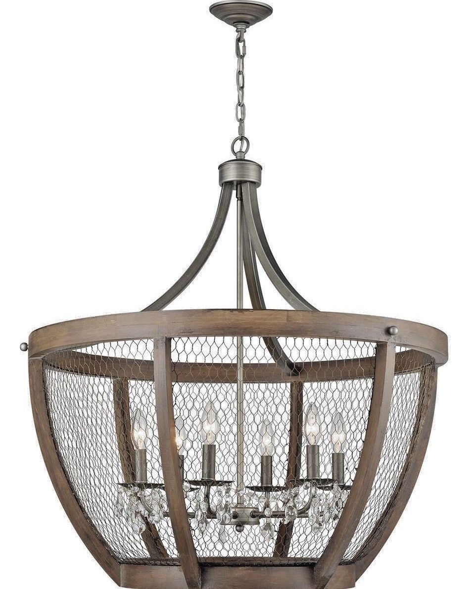 Details about xl french restoration cage farmhouse wood crystal