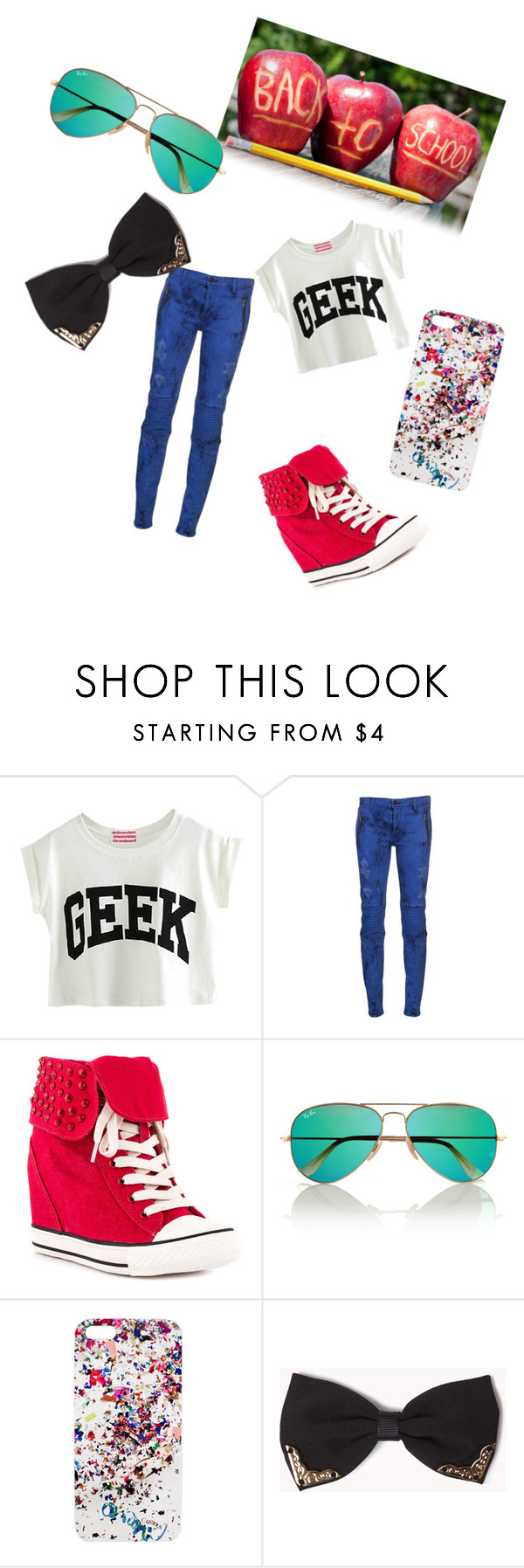 """""""Back to school"""" by harry-potter-style ❤ liked on Polyvore featuring Rock & Candy, Ray-Ban, Cynthia Rowley and Forever 21"""